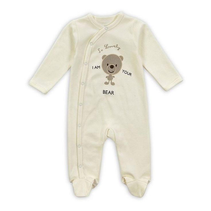 2016 New Style Baby Clothing Cotton Long Sleeve Baby Footies Spring Autumn Infant Jumpsuit Round Collar Baby Sleepers Unisex (8)