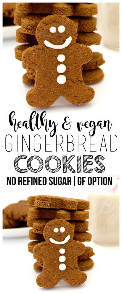 Healthy Vegan Gingerbread Cookies! (Gluten-Free Optional, No Refined Sugar)
