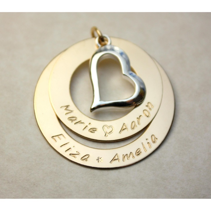 #ladybird2turtle #pinadayoct #handmadeicovet $85.00 Double Gold Filled Eternity Pendant with Heart by KarmaRocks on Handmade Australia