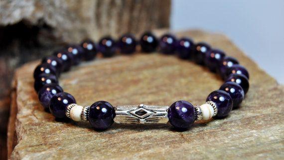 FREE SHIPPING  Men bracelet Men's beaded bracelet by FosforStore, $65.00