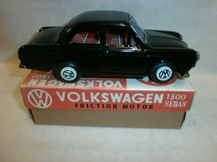 ICHIMURA VOLKSWAGEN 1500 SEDAN TINPLATE FRICTION MOTOR BOXED MIB | eBay