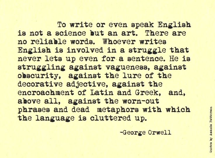 Biography George Orwell
