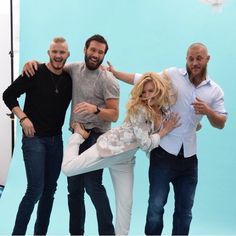 Travis Fimmel, Katheryn Winnick, Clive Standen, and Alexander Ludwig (Vikings) | TV Guide shoot for Comic Con 2015