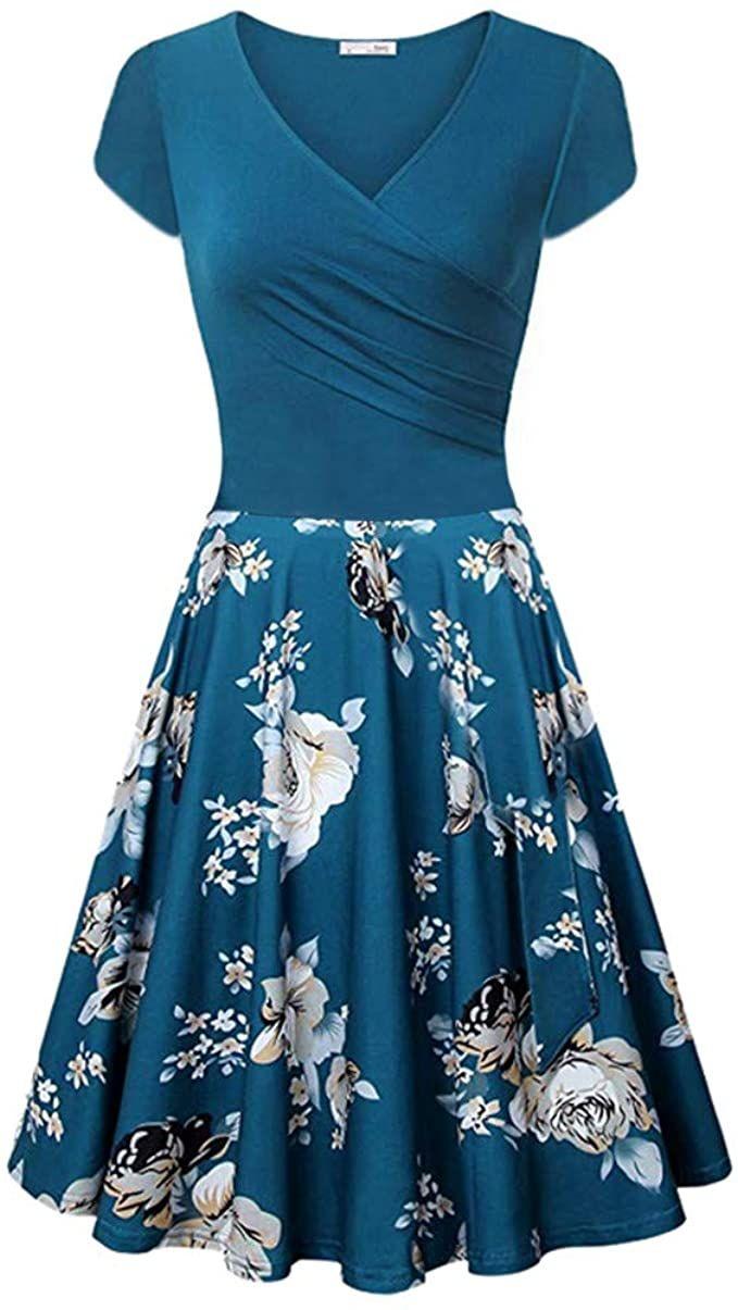 blaues abendkleid swing in 2020   cocktail dress party