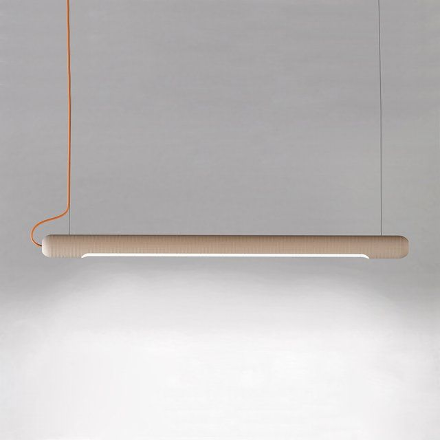 commonwealth | truncheon suspended light: maple or black walnut tube w/ LED bulbs
