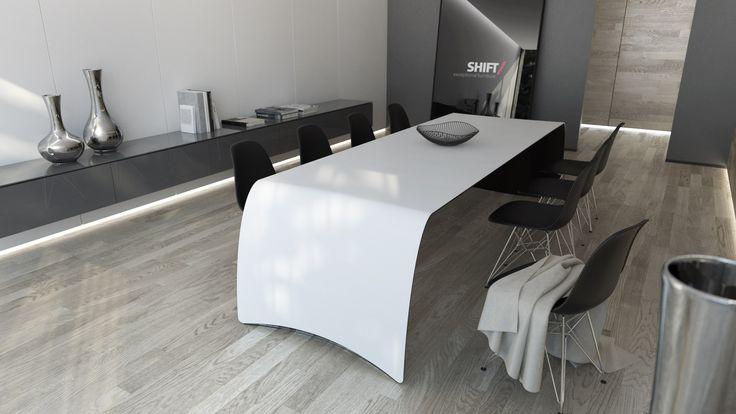 FLOYD/carbon. white top, black bottom.