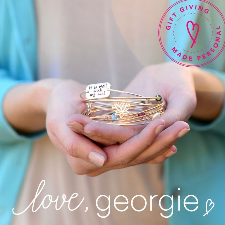 Georgie has a new logo and website!  Personalized jewelry and gifts handmade with love in the USA.  Gift giving made personal.