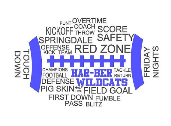 high school football tshirt customized to your school on etsy this would make a cool poster for game day to put on the fence at home games - Football T Shirt Design Ideas