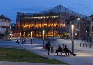 dominique perrault dresses albi grand theatre with copper screen 05