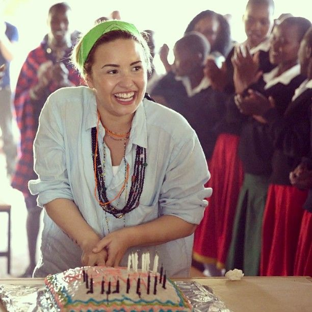 We had so much fun celebrating @Demetria Hudson Lovato's birthday with her in Kenya. You're an incredible change-maker, #Demi! #demilovato #ddlovato #lovato