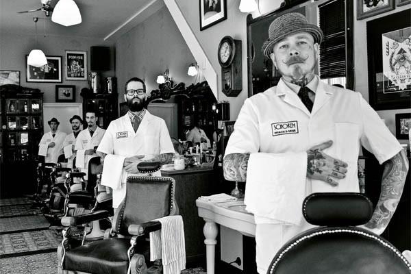 Oude ambachten herleven, neem Schorem Haarsnijder en Barbier waar je geen tondeuses zal tegenkomen