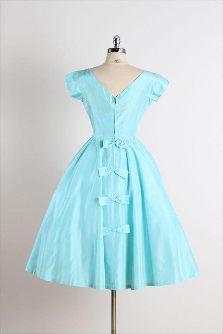 237 best Vintage Dresses 1950s-Turquoise images on Pinterest   1950s ...