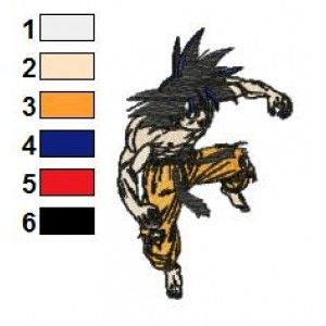 Young Goku Dragon Ball Z Embroidery Design
