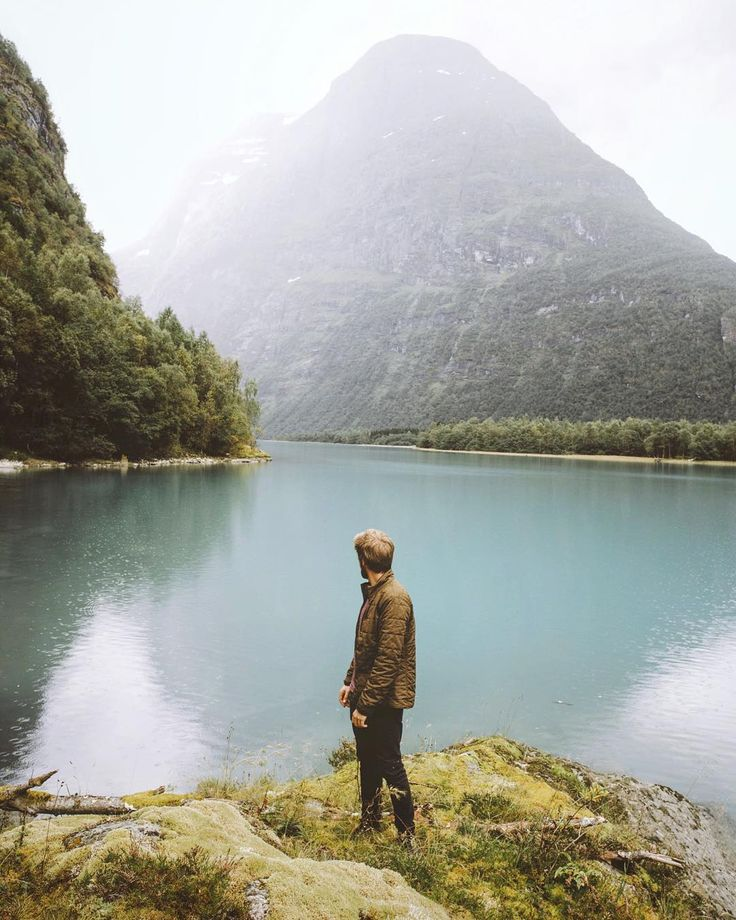 """On the shores of the Levatnet in the fjords of Norway with @aetherapparel"" - alexstrohl"