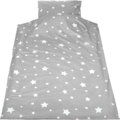Kinderbettwäsche Sternchen, Biber, grau, 135 x 200 cm,   myToys