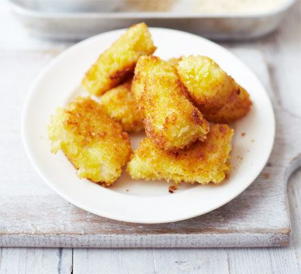 Chunky fish fingers  A touch of turmeric turns these crispy haddock bites golden - perfect for cooking with children of all ages