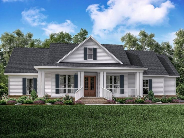 Showcasing The Best Of Modern Farmhouse Design This One Story Home Features Clean Lines