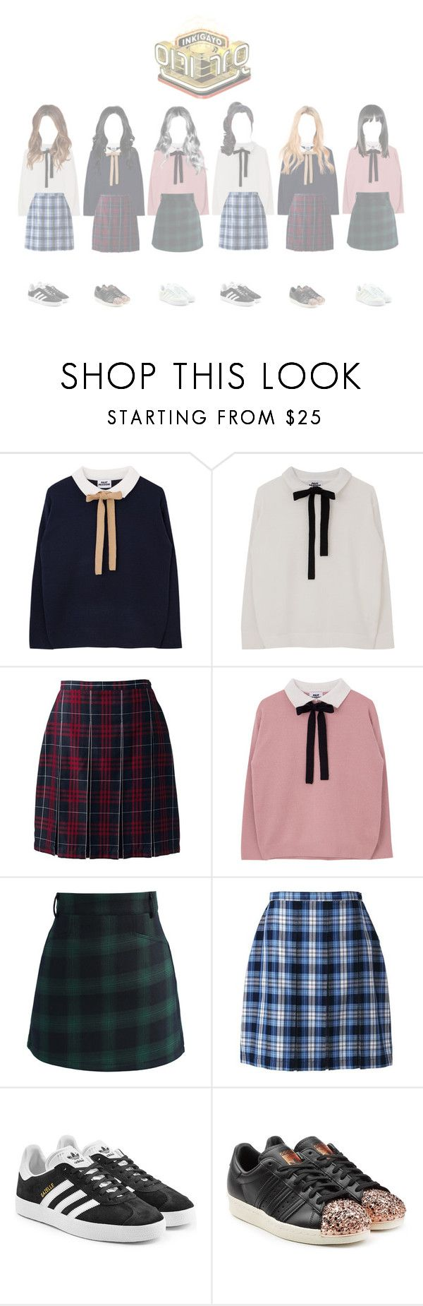 """""""[LATE] ┇ APRIL FOOLS ┇ INKIGAYO - COME OUT"""" by dreamcatcher-official ❤ liked on Polyvore featuring Lands' End, Chicwish, adidas Originals and adidas"""