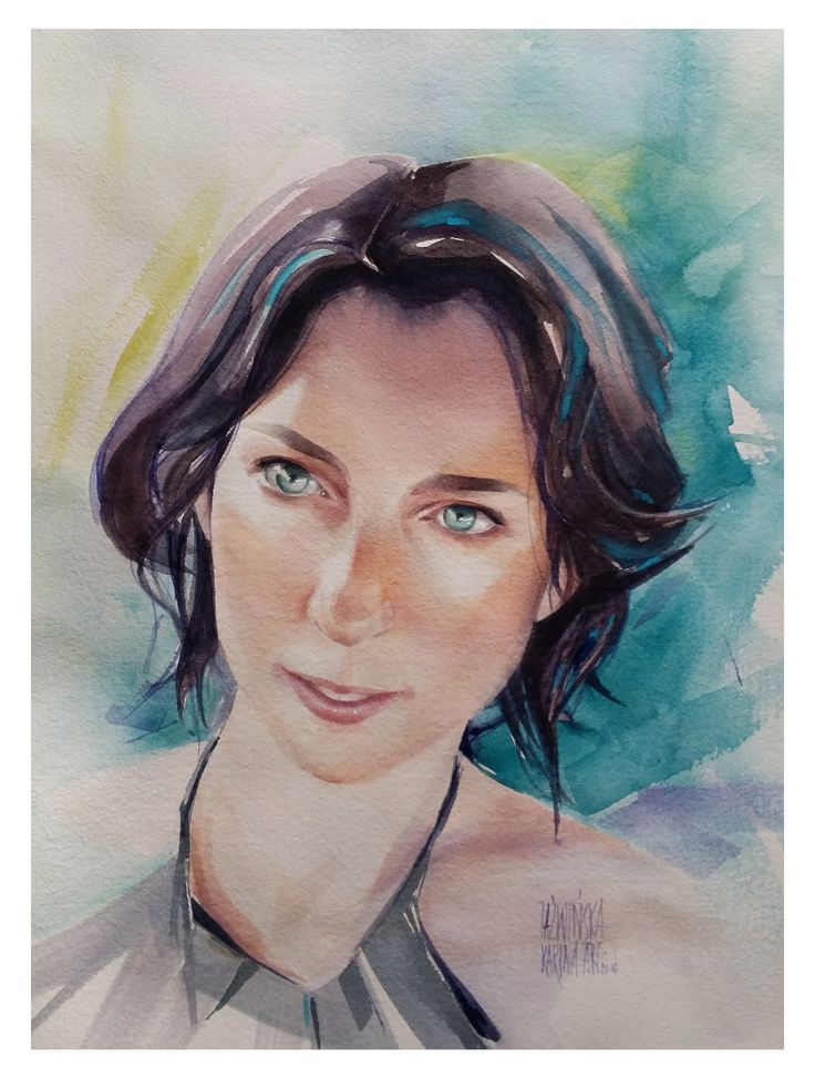 Karina Jaźwińska/ Watercolor/ Agnieszka/ Size: 45x32 cm/ QOR
