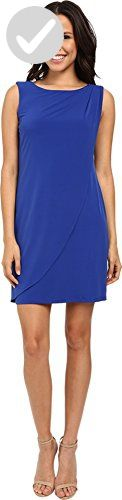 Jessica Simpson Women's Sleeveless Ity Dress with Front Drape, Cobalt, 10 - All about women (*Amazon Partner-Link)