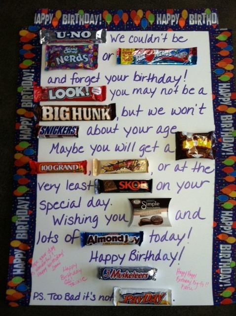 poster board candy bars and a little creativity make a fun birthday