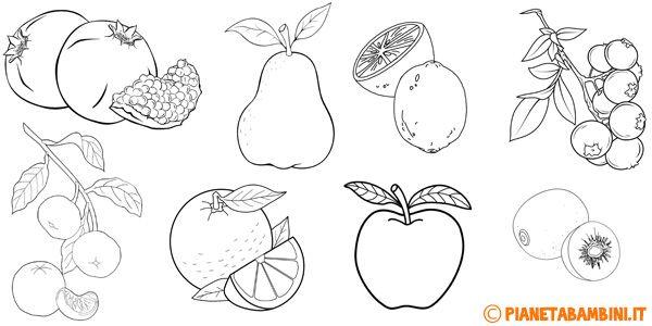 Disegni Di Frutta Invernale Da Colorare Disegni A Mano Disegni
