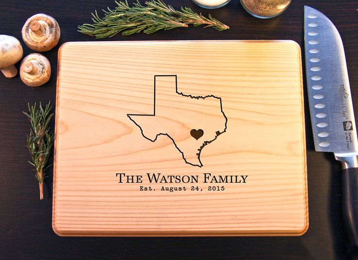 Home State Personalized Cutting Board BW - Cabanyco
