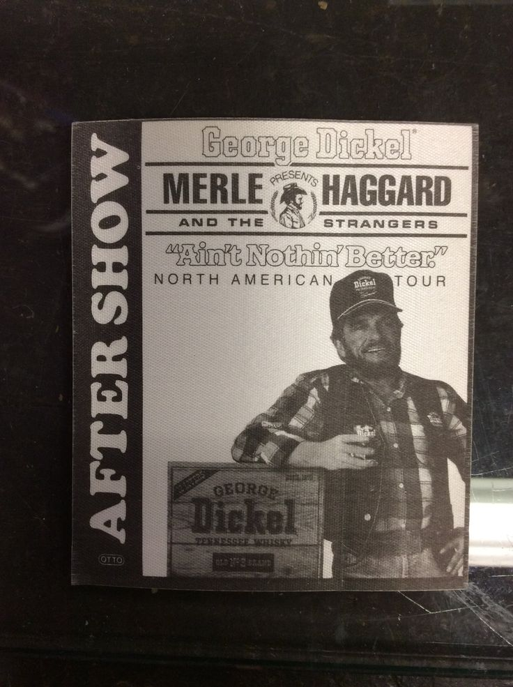 Rare 1987 Merle Haggard Cloth Backstage Pass from the Ain't Nothin' Better Tour