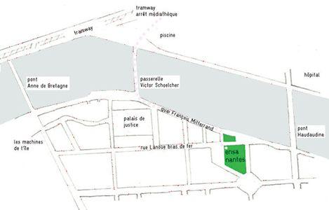 Venir à l'école, plan et horaires   École Nationale Supérieure d'Architecture nantes (ENSAN - ENSA nantes France)