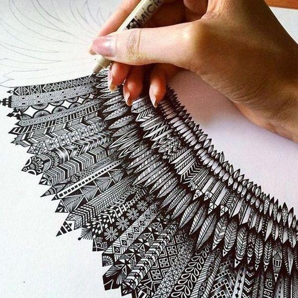 Absoluut mooi Zentangle patronen voor veel gebruik (8)