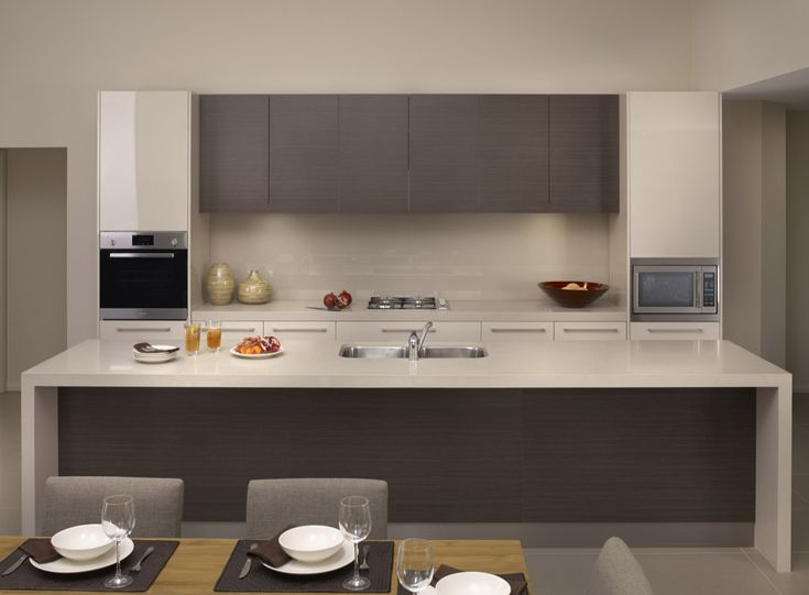 I like how this is well balanced with colour of overheads matching under benchtop