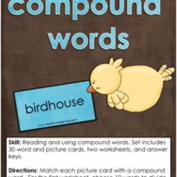 Compound Words, Words Activity, Compound Words Activity