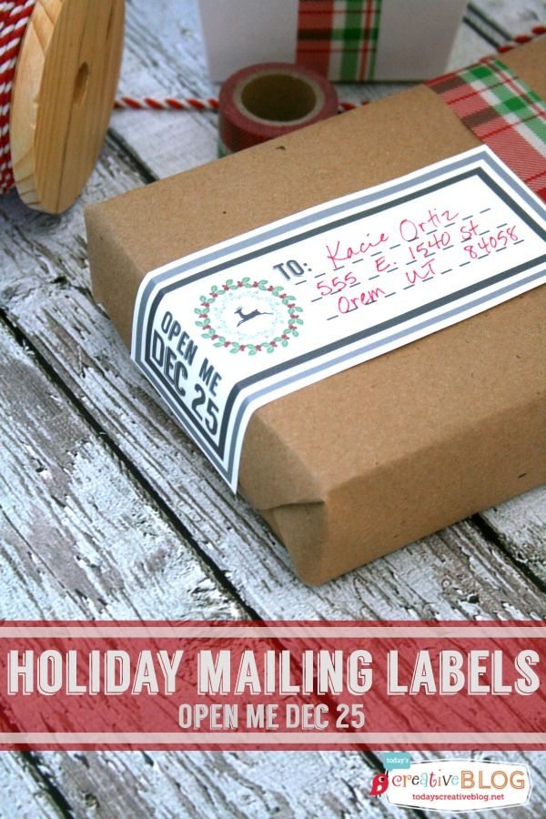 Printable holiday mailing labels christmas printables labels free and christmas for Printable christmas address labels