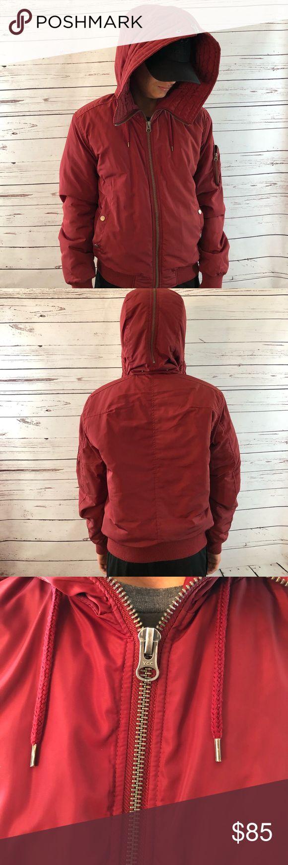 Topman Split Hoodie Burgundy Great condition  Size Medium Double front zipper Split Zipper hoodie Hard to find Super stylish Item681 Topman Jackets & Coats