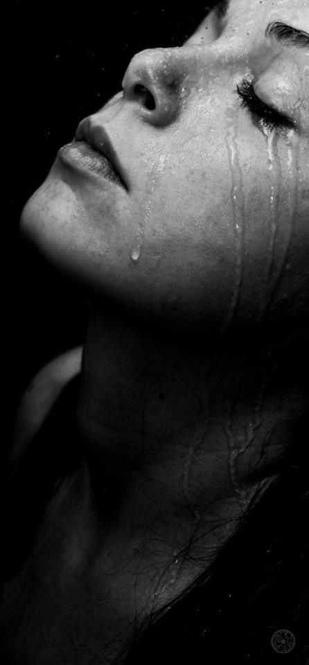 Portrait, Girl, Water, Shower, Lips, Face