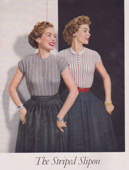 1950s Striped Slipon