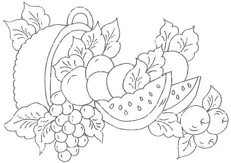 Riscos Frutas para Pintura em Tecido ou Telas                                                                                                                                                     Mais