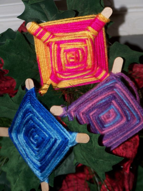 Mexican God's Eye Craft. My niece's and nephew's just love to make these! One year they made them to accompany some of the luminarias at Relay for Life.