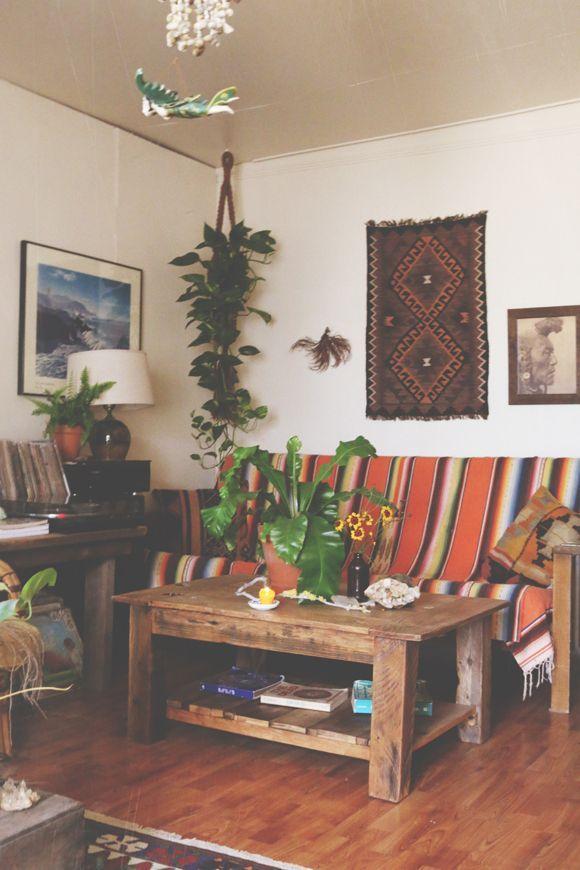 hippie living room decor