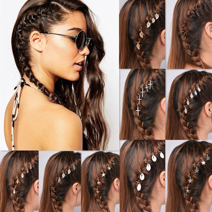 1 lot =5 piece New fashion Hair Jewelry silver  plated Retro punk lovely cross leaf  Headwear nice gift for women girl  HA-93