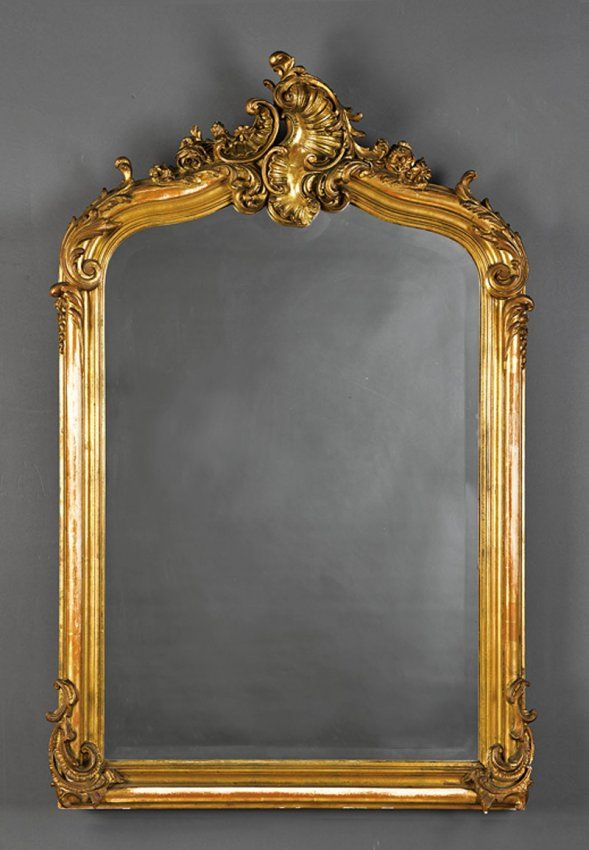 1000 images about rococo or rocaille on pinterest for Gilded baroque mirror