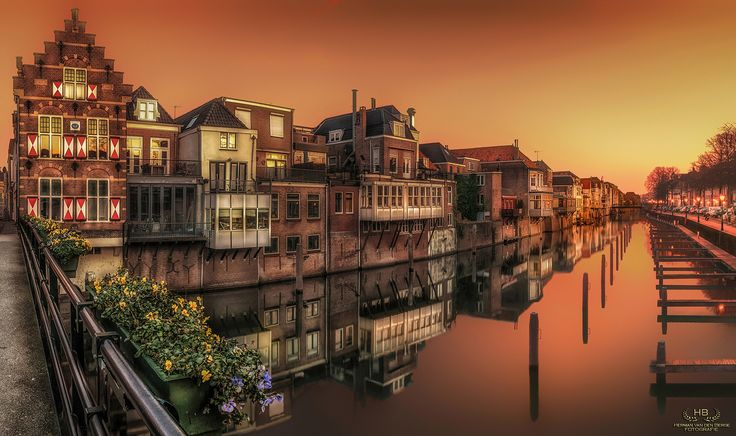 Old Dutch - This shot of Gorinchem (Netherlands) was taken from the bridge at the Lingehaven on a beautiful and calm morning earlier this year........