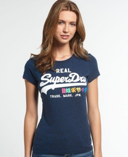 superdry Vintage Logo Rainbow Entry T-shirt