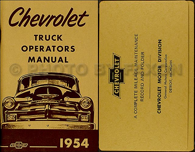 1954 & 1955 1st Series Chevrolet Truck Wiring Diagram ...