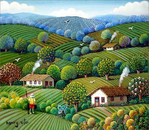 """amazing """"naive art"""" by Henry Vitor:"""