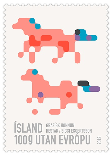 Icelandic post stamp, designed by Siggi-EggertssonPosters Horses, Art Illustrations, Graphics Goodies, Graphics Design Posters, Post Stamps, Iceland Post, Graphic Design Posters, Stamps Design, Postage Stamps
