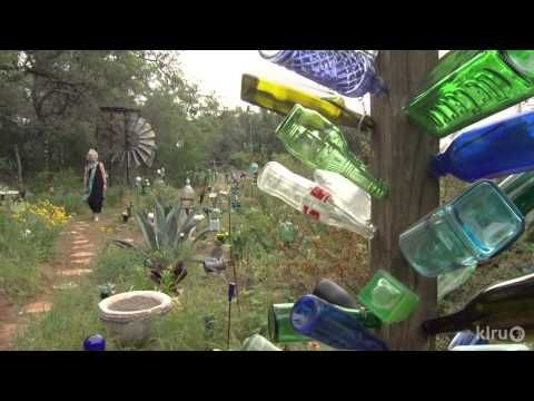 Elayne Lansford's Bottle World - a soulful garden of peace and healing - Great youtube tour