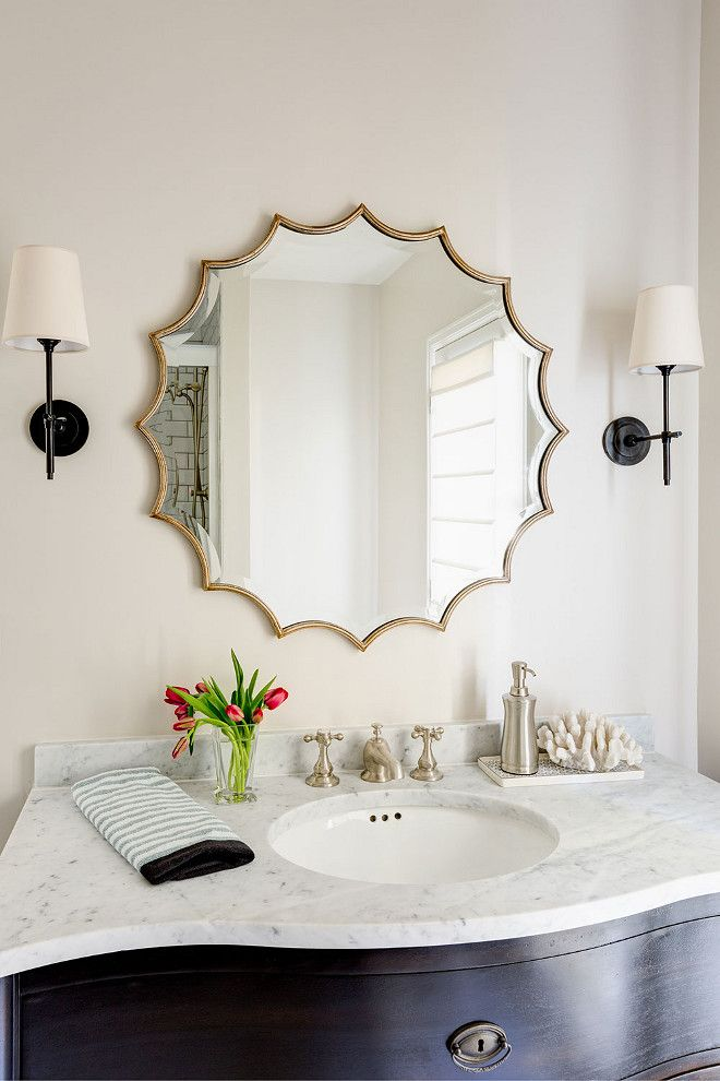 25+ Best Ideas About Oval Bathroom Mirror On Pinterest | Half Bath