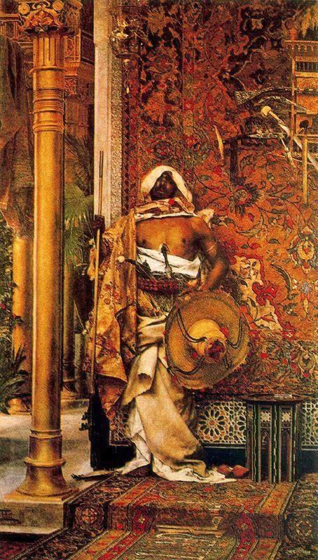 Le Garde du Sèrail, (Detail) by Antonio Maria Fabres y Costa