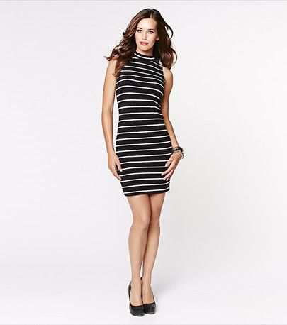Mock Neck Bodycon Dress - $15